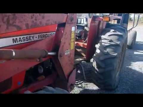 Massey Ferguson 383 with loader - YouTube