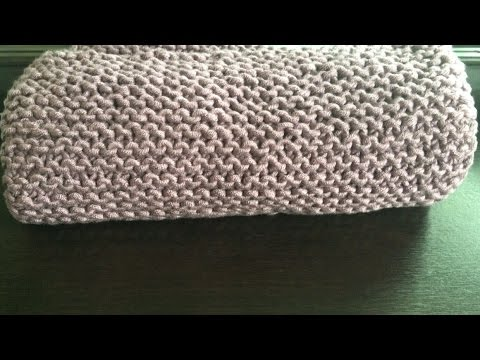 How To Knit A Chunky Baby Blanket Lilus Handmade Corner Video