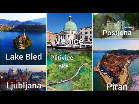 Lake Bled- Ljublijana - Plitivicka Jezera - Piran - Venice - Shot by Parrot Bebop 2.