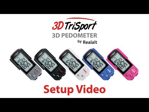 Setup Video for the 3DTriSport Pedometer by Realalt