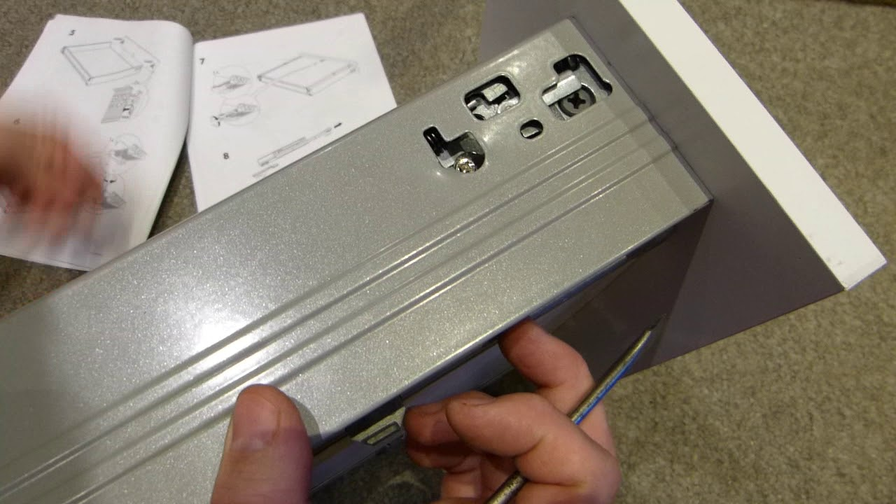 IKEA drawer front removal & hardware fitting detail