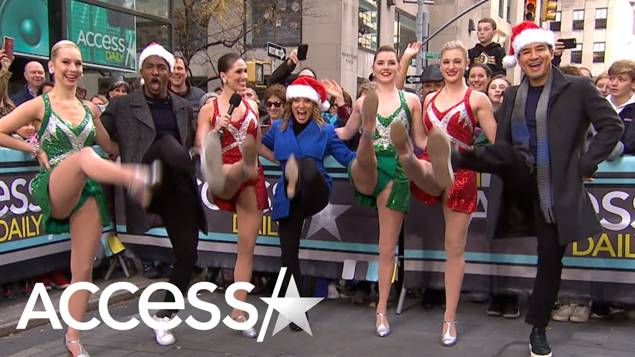 Mario Lopez, Kit Hoover And Scott Evans Join The Rockettes For A Kickline