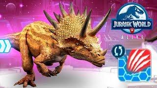 Дракоцератопс Двойной Удар Нашару Jurassic World Alive Dracoceratops