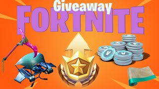 Fortnite season 10 free battle pass giveaway 25$ psn gift card or skin giveaway and vbucks