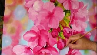 как нарисовать цветы сакуры крупно.         а.мишин