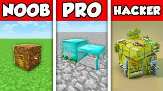 Minecraft NOOB vs PRO vs HACKER : HOUSE INSIDE BLOCK CHALLENGE in Minecraft Animation!