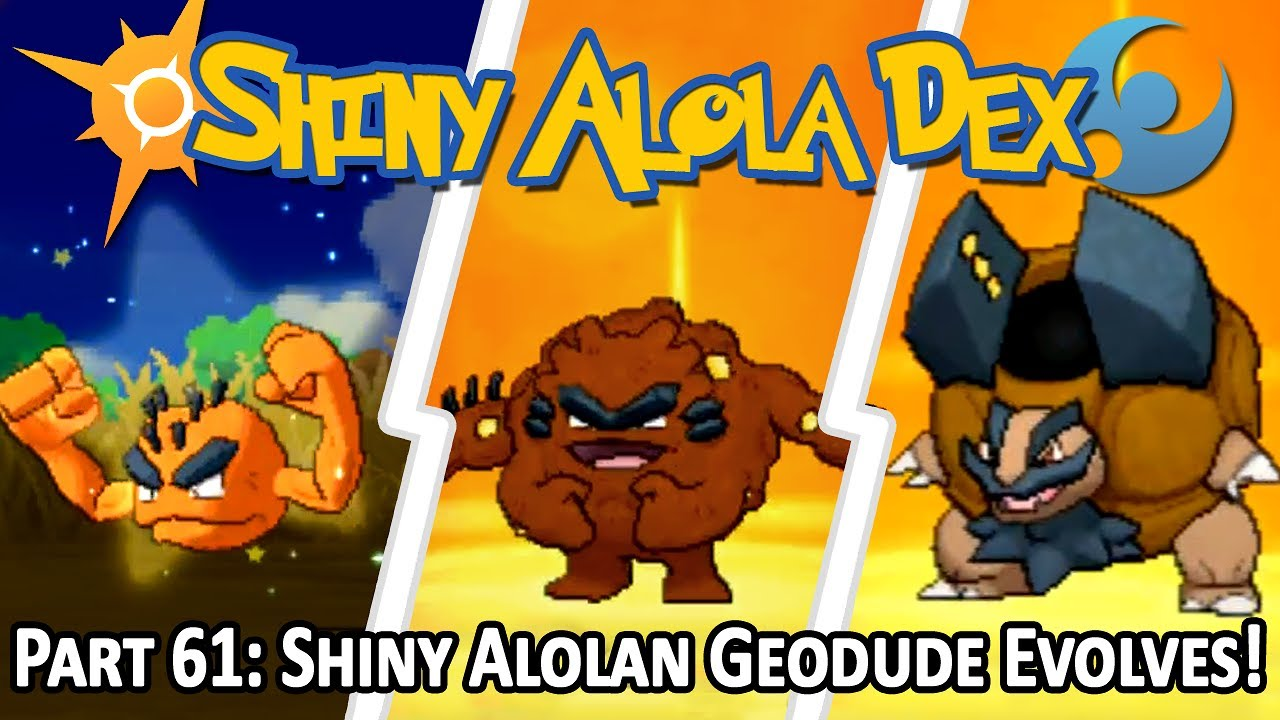 Shiny Alolan Geodude After 48 Sos Chain Evolves Into Golem Stream Highlight