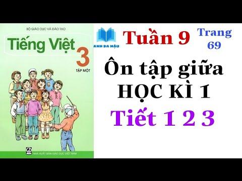 Tiếng Việt Lớp 3 Tập 1 | Tuần 9 | ÔN TẬP GIỮA HỌC KÌ 1 | Tiết 1 2 3 | Trang 69