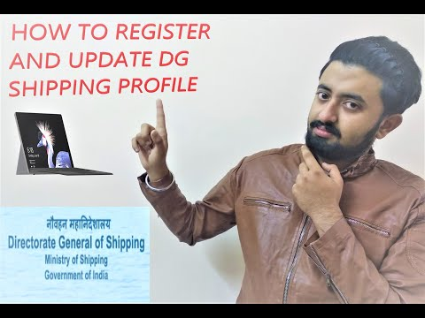 HOW TO REGISTER AND UPDATE SEAFARER PROFILE IN DG SHIPPING WEBSITE