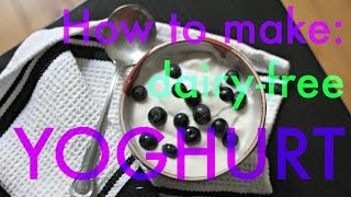 How To Make Raw Vegan Probiotic Almond Yogurt At Home - Dairy-free, Soy-free