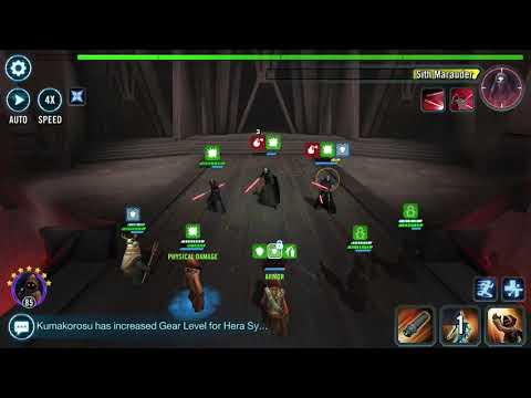 SWGOH - Phase 1 Sith Raid - JAWA'S!!