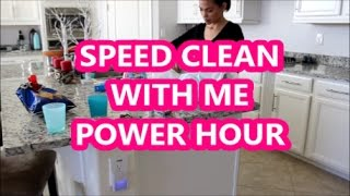 SPEED CLEAN MY HOUSE| POWER HOUR | CLEAN WITH ME