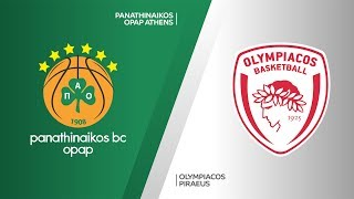 Panathinaikos OPAP Athens - Olympiacos Piraeus Highlights | EuroLeague, RS Round 12