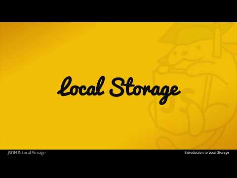 An Introduction to Local Storage with JavaScript