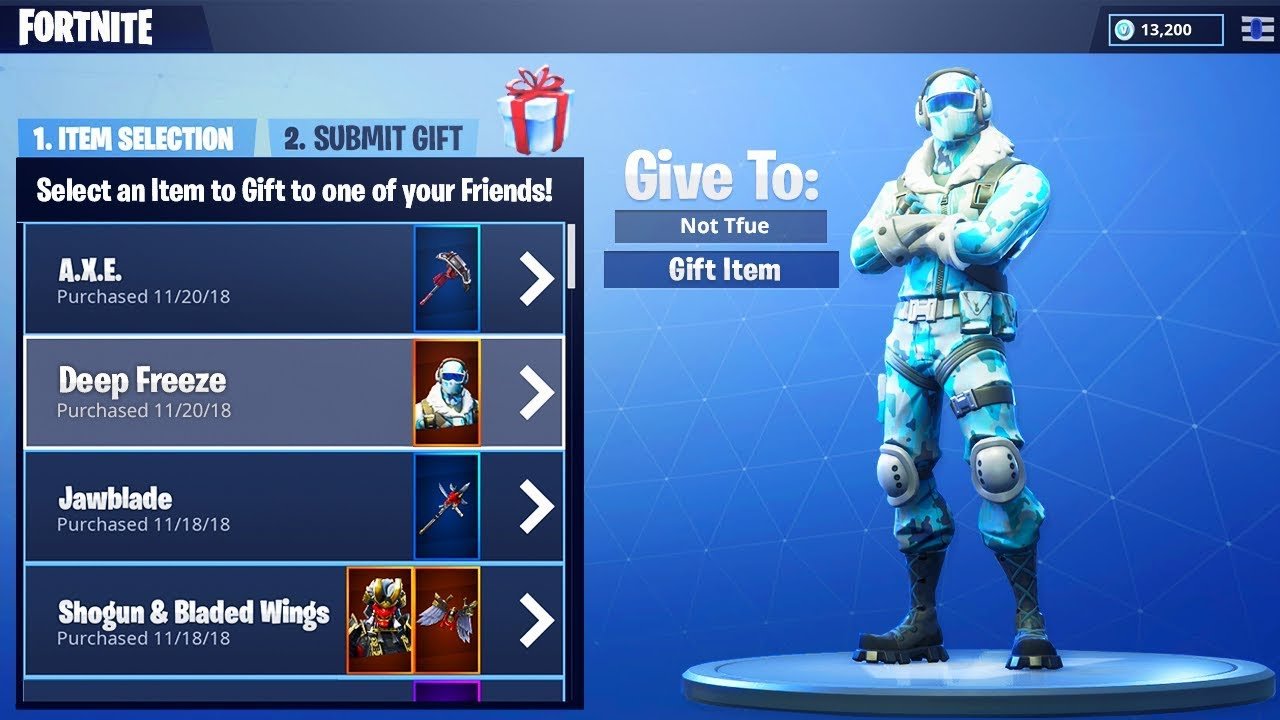 The Gifting System In Fortnite Season 7 Youtube