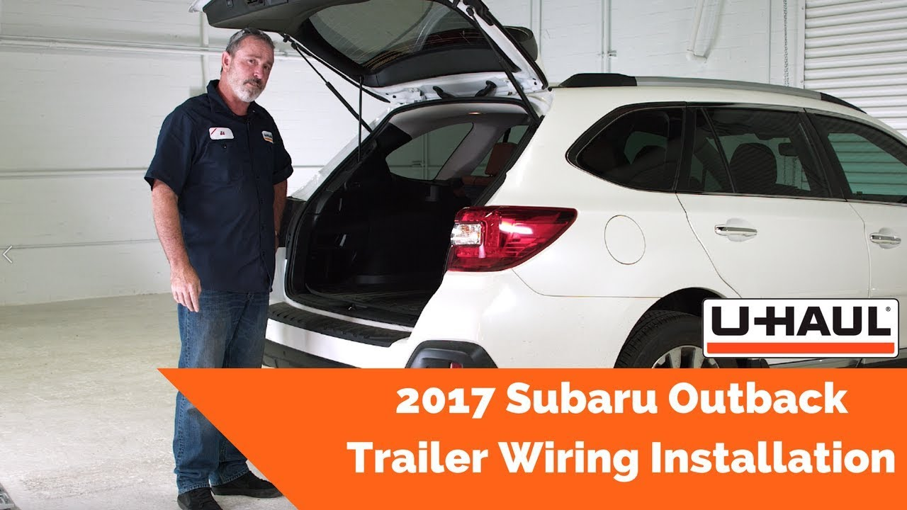 2017 Subaru Outback Trailer Wiring Installation - YouTube