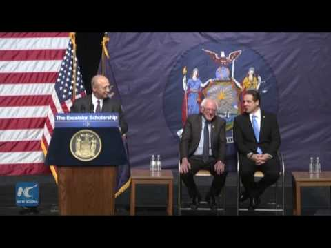 New York state  unveiled college tuition-free agenda
