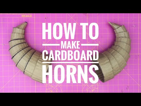 How To Make Cardboard Horns
