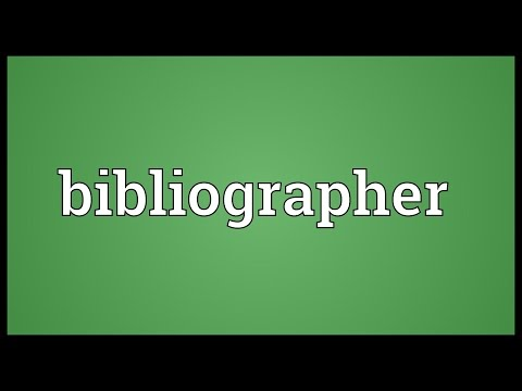 Header of bibliographer