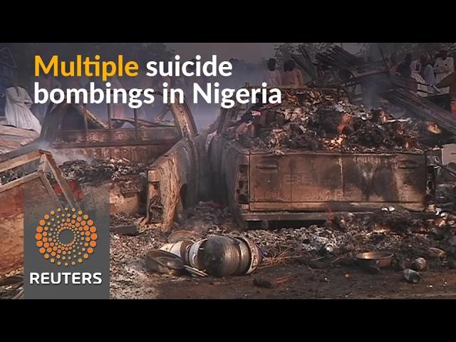 Multiple suicide bombings hit Nigeria's northeast