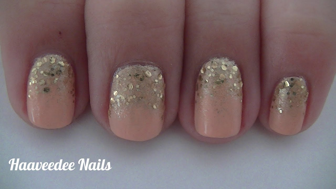 Comfortable Glitter Gradient Nail Art Youtube Usefulresults