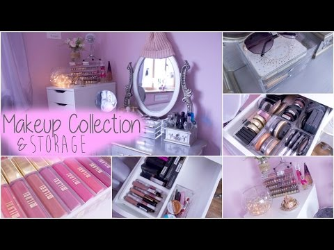 Makeup Collection & Storage 2016 | LAURA ANN