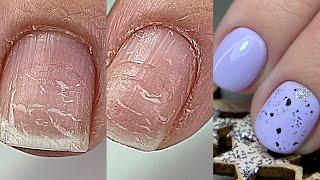 Сама сняла гель лак Тонкие слоящиеся ногти первый Аппаратный маникюр