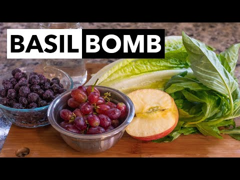 Green Smoothie Recipe 9: Learn How to Basil Bomb Your Smoothies (from 30-day GSC)