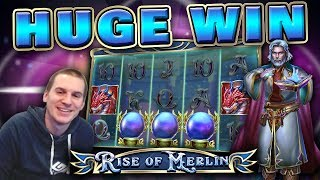 HUGE WIN on Rise of Merlin Slot - £6 Bet!