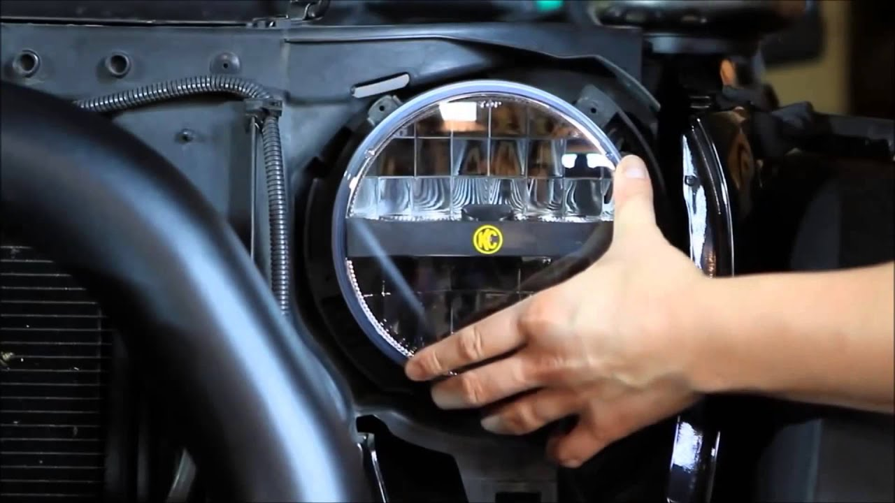 Kc Hilites 7 Inch Led Headlight Installation Youtube