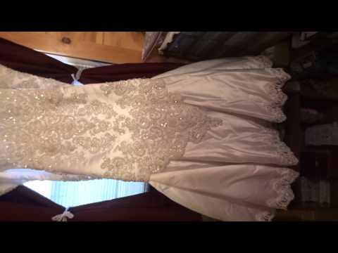 Thrift Store Finds Wedding Dress & Crochet Curtains