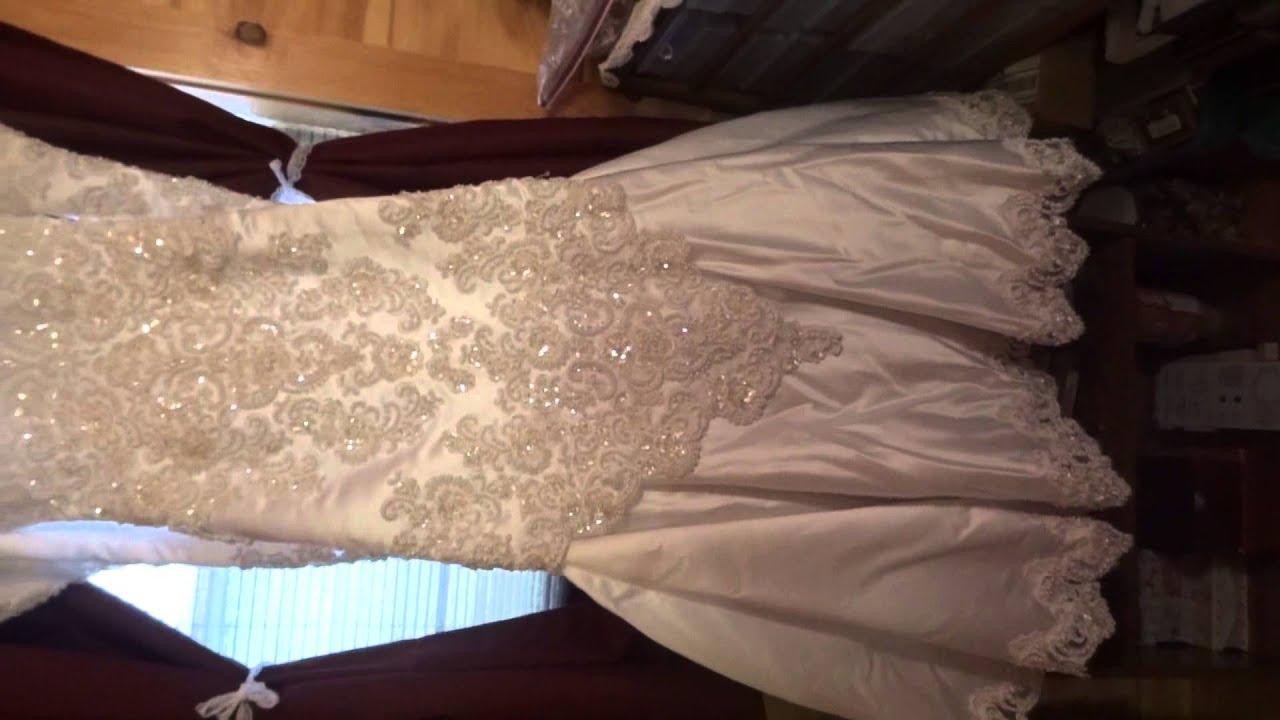 Thrift store finds wedding dress crochet curtains youtube for Thrift store wedding dress