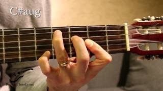 c#aug chord on guitar