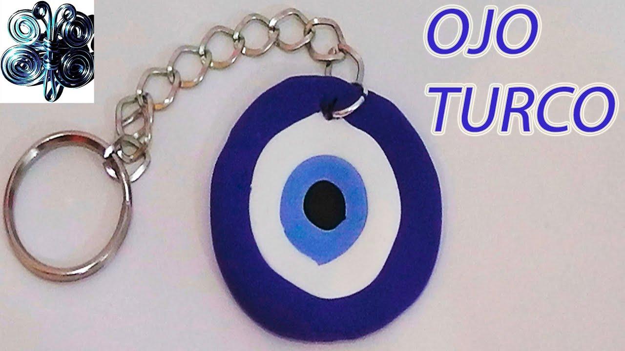 Como hacer un ojo turco amuleto de la suerte con pasta - Como deshacer un mal de ojo ...