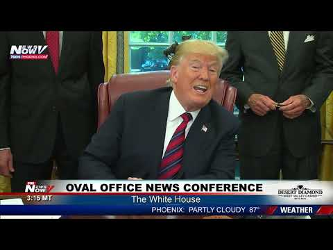 RARE President Trump Oval Office News Conference