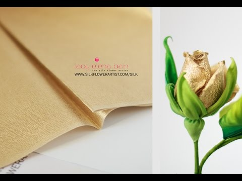 Making silk flowers - METALLIC GOLD SILK