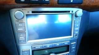 Обзор китайской штатной головной системы для Avensis II (T25) 2003-2009