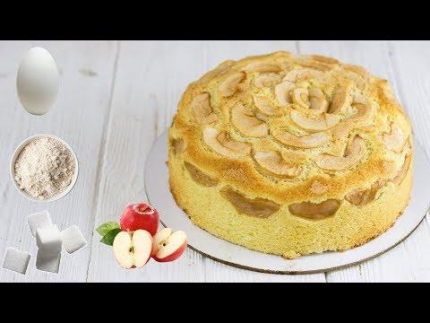 ВСЕГО 3 ИНГРЕДИЕНТА И 30 МИНУТ. Рецепт шарлотки из того что есть в холодильнике. Шарлотка с яблоками