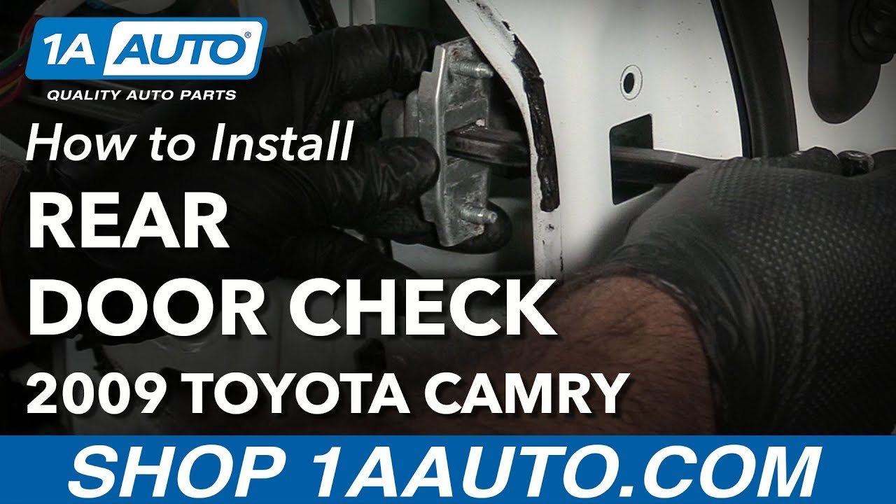 How To Replace Rear Door Check 06 11 Toyota Camry Youtube