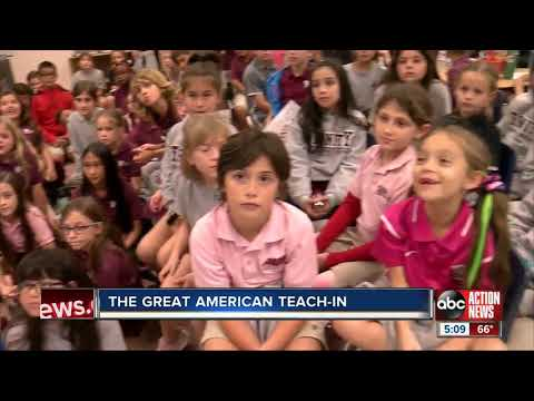 Anchor Wendy Ryan Speaks With Students In The Great American Teach-In