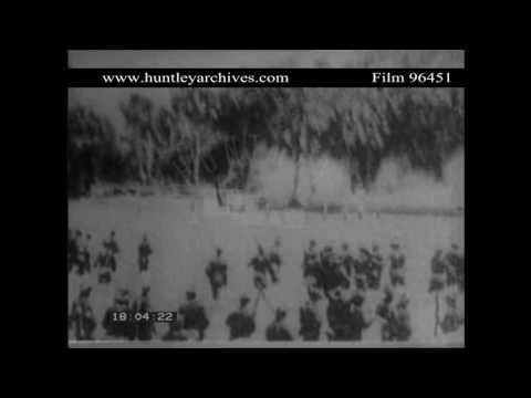 American Troops in Cuba in 1898.  Archive film 96451