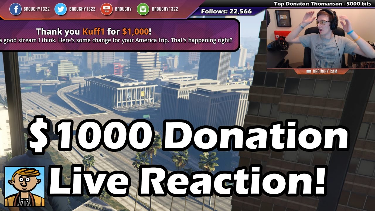 Fifth $1000 Donation! - Live Reaction, Twitch Chat & Full ...
