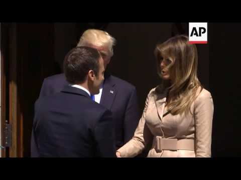 Trump meets new French president Macron