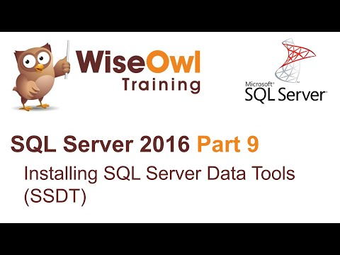 SQL Server 2016 Part 9 - Installing SQL Server Data Tools (SSDT)