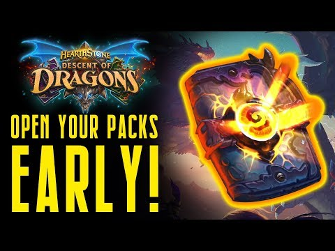 How to Open Your Dragons Packs EARLY & My Pack Opening! | Descent of Dragons | Hearthstone Expansion