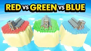 WHICH CASTLE IS THE BEST? Red VS Green VS Blue (Ancient Warfare 3 Funny Gameplay)