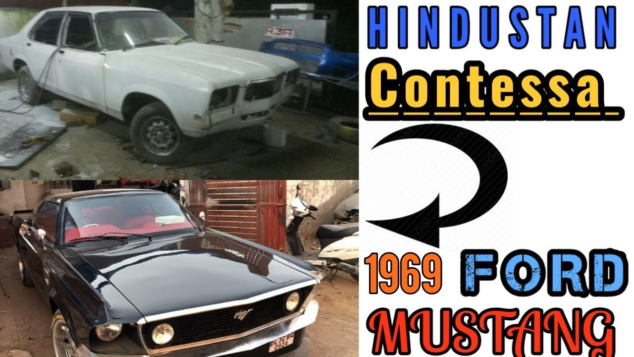Hindustan contessa modified into 1969 ford mustang for sale
