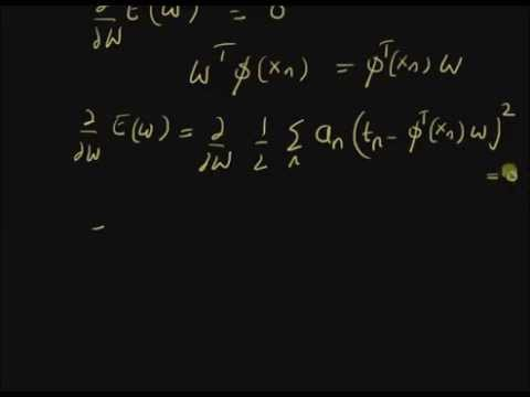 Weighted least squares error
