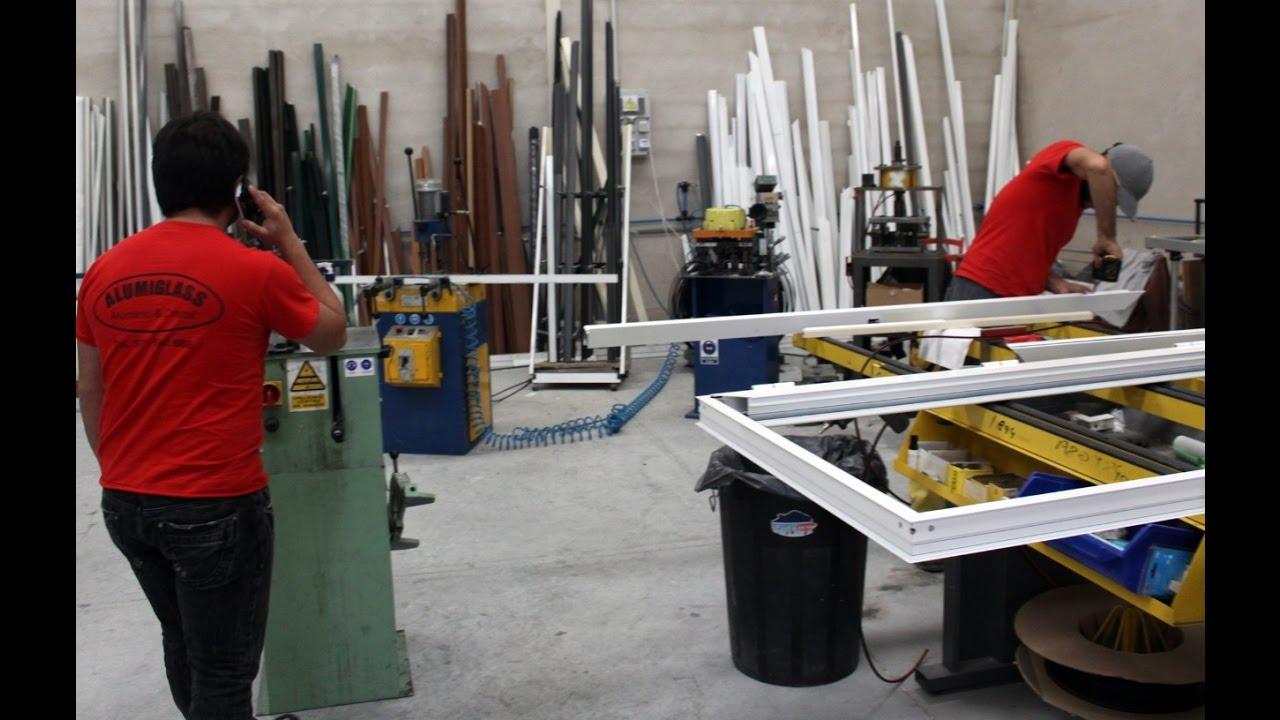 Como hacer puertas plegables de aluminio youtube - Puerta balconera aluminio ...
