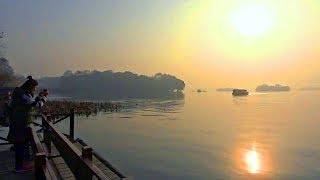 浙江杭州逛西湖返回到香格里拉飯店 West Lake, Hangzhou Zhejiang (China)